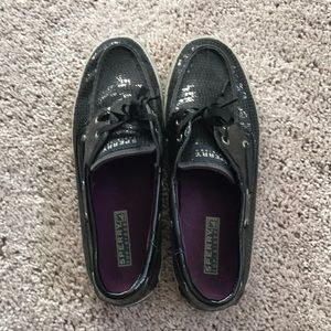 Sequined Sperry Boat Shoes